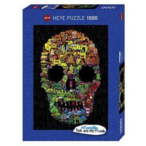 Heye Puzzle 1000 pièces : Doodles skull