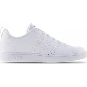 Adidas VS Advantage Clean K, Baskets,Unisexe, Enfant, Blanc Cassé (Ftwr White/Ftwr White/Super Pink F15), 39 1/3 EU