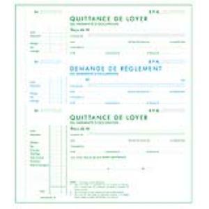 Exacompta Quittance de loyer autocopiant 50 feuillets tripli (125 x 210 mm)