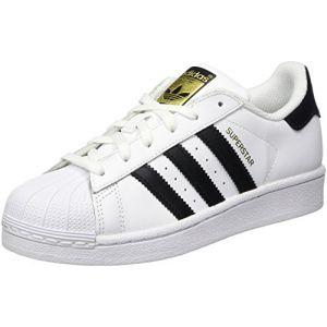 Adidas Originals Superstar, Chaussures Sneaker Mixte Enfant - Blanc (ftwr White/core Black/ftwr White), 38 EU