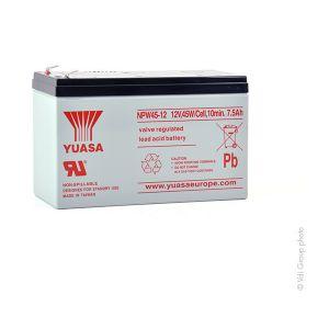 Yuasa Batterie plomb AGM NPW45-12L 12V 7.5Ah F6.35