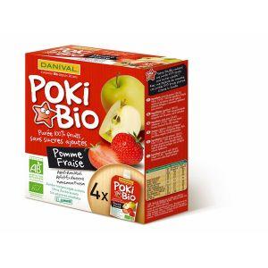 Danival Poki Bio - 4 compotes pomme / fraise