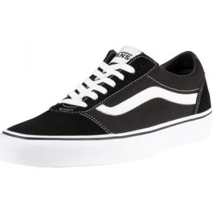 Vans Chaussures Homme Baskets en toile suède Ward, Noir Noir - Taille 43