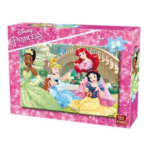 King International Puzzle 24 pièces : Princesses Disney : Les princesses et leurs amis les animaux