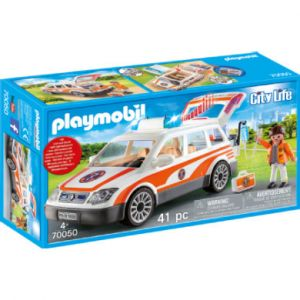 Playmobil Voiture et ambulancier City Life 70050