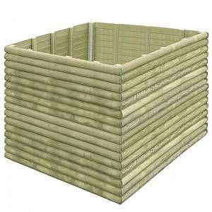 VidaXL Jardinière 150x150x96 cm Bois de pin imprégné 19 mm