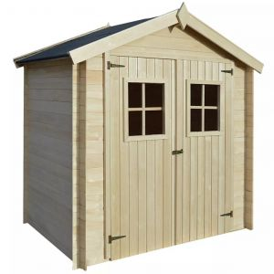 VidaXL Abri de jardin pour bûches de bois 2 x 1,5 m 19 mm Bois