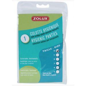 Zolux Culotte Hygiénique pour Chienne en Chaleur - Taille 2 - Tour du ventre 32-39 cm