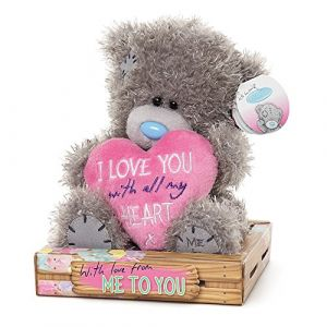Me to You SG01W409Peluche Tatty Teddy Inscription I Love You with All My Heart Bear Sits 15,2 cm