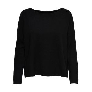 Only NOS Onlbrenda L/s Pullover KNT Noos Pull, Noir Black, X-Small Femme