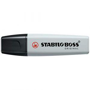 Stabilo Surligneur BOSS ORIGINAL Pastel pointe Biseau 2 - 5 mm Poudre de Gris