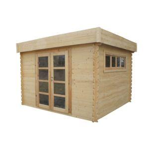 Chalet et Jardin Alpina - Abri de jardin en bois toit-plat 8,94 m2