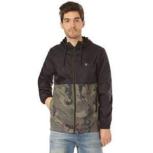 Volcom ERMONT Jacket Veste Coupe-Vent à Capuche doublée Homme, Camouflage, FR (Taille Fabricant : XS)
