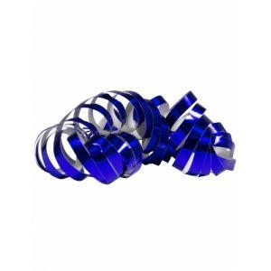 2 Rouleaux de serpentins bleu métallique 4 m Taille Unique