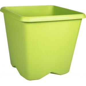 Eda Plastiques Pot plastique carré Chorus Eda - 12,2 l - Vert
