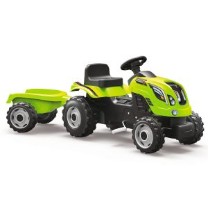 Smoby Tracteur à pédales Farmer Xl avec remorque