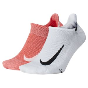 Nike 2 paires Multiplier No Show W Chaussettes Blanc - Taille S