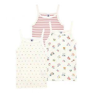 Petit Bateau Chemises A Bretelles Blouse, Multicolore (Variante 1 00), Taille Fabricant: 12A 12 Ans (Lot de 3) Fille
