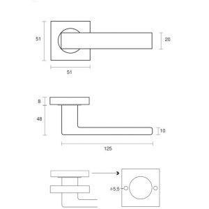 Poignées modèle Yquem inox 304 brossé x2