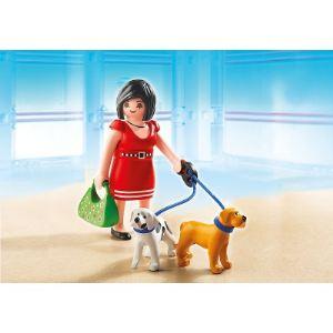 Image de Playmobil 5490 City Life - Femme avec chiots