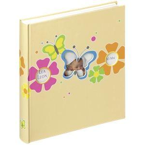 Walther Album photo naissance à coller Butterfly pour 216 photos (10x15 cm)