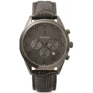 Pierre Lannier 266C4 - Montre pour homme Chronographe avec bracelet en cuir
