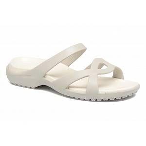 Crocs Meleen Twist, Femme Sandales, Blanc (Pearl White/Oyster), 42-43 EU