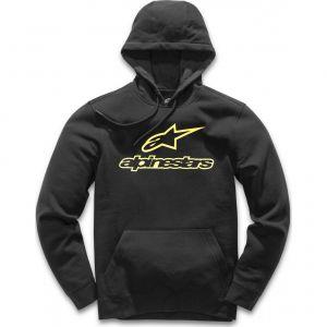 Alpinestars Sweat capuche ALWAYS noir/jaune - M