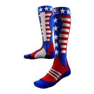 X-Socks Ski Patriot Chaussettes Homme, USA, 35/38