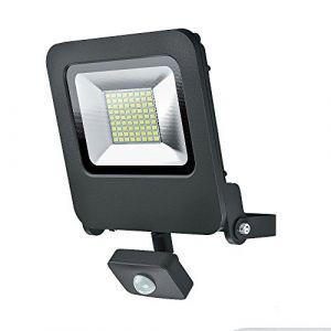 Osram Projecteur Extérieur LED ENDURA FLOOD - Détecteur de Mouvement - Etanche IP44 - 50W - 4000 lumen - Orientable 180° - Blanc chaud 3000K - Gris Anthracite