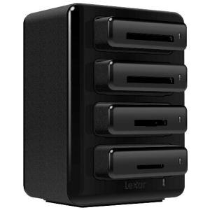 Lexar LRWHR1RBEU Professional Workflow HR1 - Concentrateur pour lecteur de cartes USB 3.0 à quatre baies