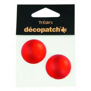 decopatch Cabochons 2 ronds 3 cm rouge
