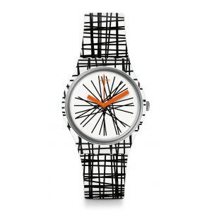 Swatch Femme Digital Quartz Montre avec Bracelet en Silicone GW183