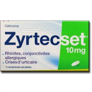 Ucb Pharma Zyrtecset 10 mg - Urticaire chronique 7 comprimés