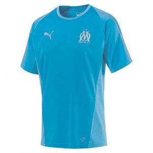 Puma Olympique de Marseille Maillot Training without Sponsor Homme, Bleu Azur, FR : XL (Taille Fabricant : XL)