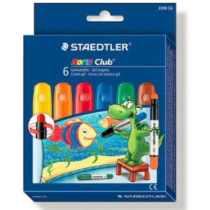 Staedtler Etui de 6 craies gel assorties