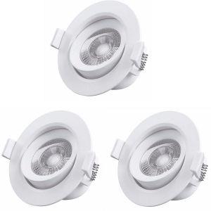 Gefom Lot de 3 spots orientables LED plats - 5W