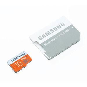 Samsung MB-MP16DA/EU - Carte mémoire microSDHC EVO 16 Go classe 10 avec adaptateur SD