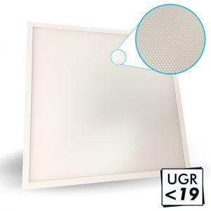 Arum Lighting Dalle LED 40W microprismatique UGR19 3ans 60x60 4000Lm Eq 380W | blanc-neutre-4000k