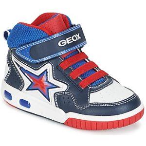 Geox Jr Gregg A, Baskets Hautes Garçon, Bleu (Navy/White), 35 EU