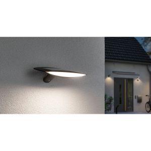 Paulmann Kiran 94340 Applique murale solaire LED d'extérieur avec détecteur de mouvement et 1 lampe solaire 3 W Anthracite 3000 K