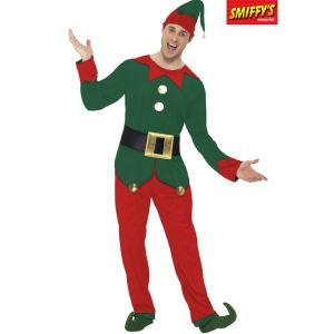 Smiffy's Déguisement elfe homme Noël (taille M ou L)