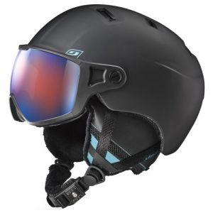 Julbo Strato avec visière Spéctron 3 Noir / Bleu Cat 3 Flash Bleu Tour de tête 56-58 cm