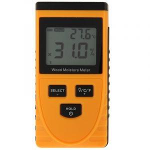 WeWoo Détecteur d humidité orange Humidimètre numérique bois avec écran LCD
