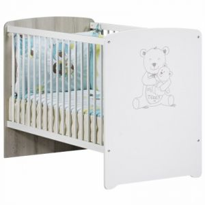 Sauthon Teddy - Lit bébé têtes panneaux 60 x 120 cm