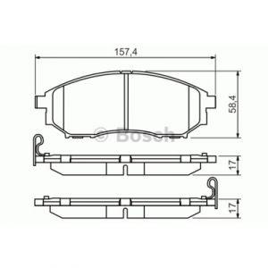 Bosch 4 plaquettes de frein 0986494295