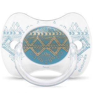 Suavinex Sucette Ethnic Silicone Réversible +18 mois Turquoise