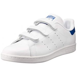 Adidas Stan Smith, Baskets Basses Homme, Blanc Footwear White/Collegiate Royal, 45 1/3 EU
