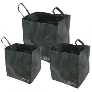 Ribiland Lot de 3 sacs de jardin multifonctions 70l / 100l / 170l