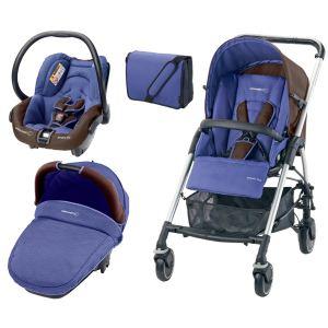 Bébé Confort Streety Next - Combiné Trio avec poussette, nacelle compacte, siège auto Streety.fix et sac à langer